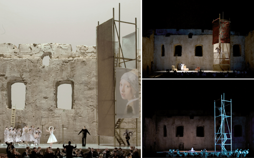 Stage design for Tosca