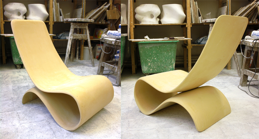textil concrete: outdoor furniture prototyp