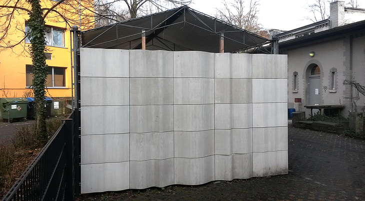 wall of concrete